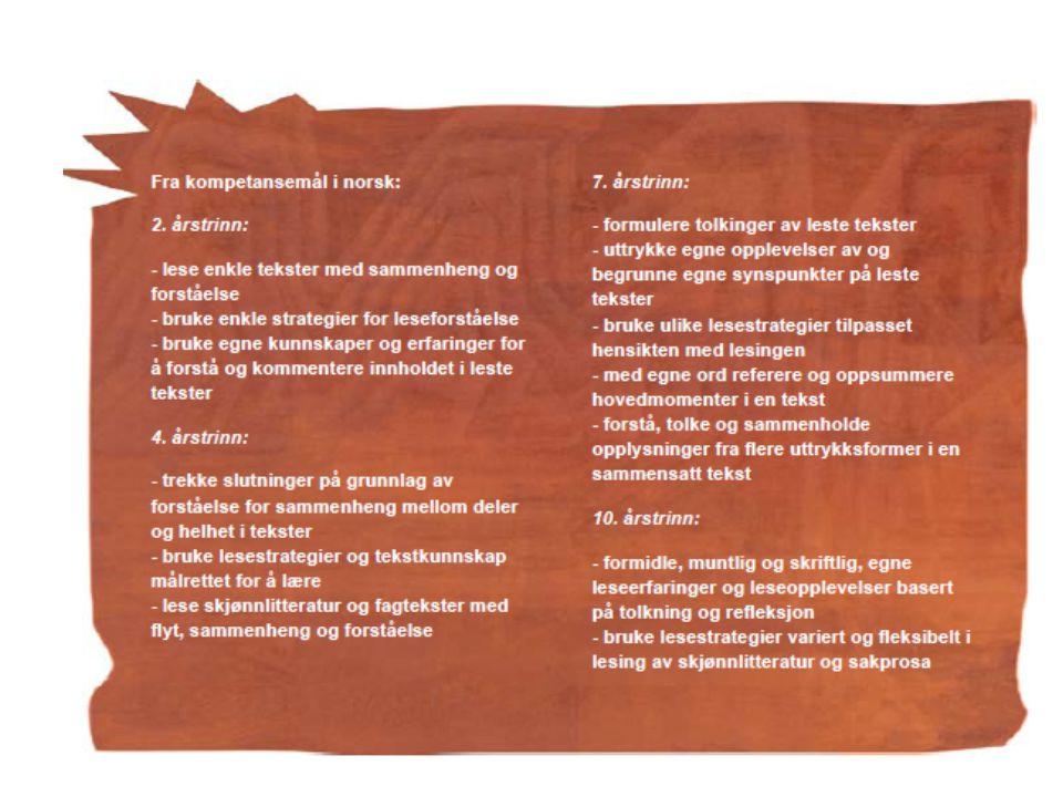 Lise Helgevold og Liv Engen, Lesesenteret 2010 13 Aspekter (lag) i leseforståelse (jf rammeverk for nasjonale prøver) Finne informasjon fra tekst Kombinere, tolke og reflektere over informasjon Reflektere selvstendig omkring tekstens form og innhold