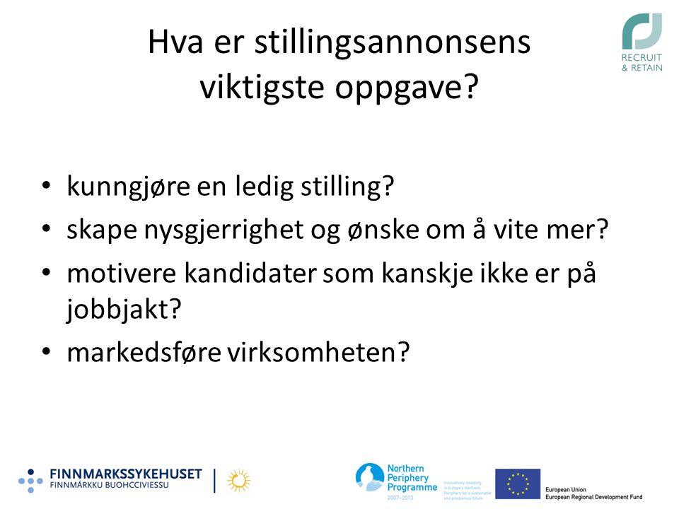 Skiller vi oss ut fra de andre helseforetakene.Helse Finnmark helseforetak har 1500 ansatte.