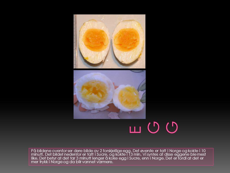 På bildene ovenfor ser dere bilde av 2 forskjellige egg.