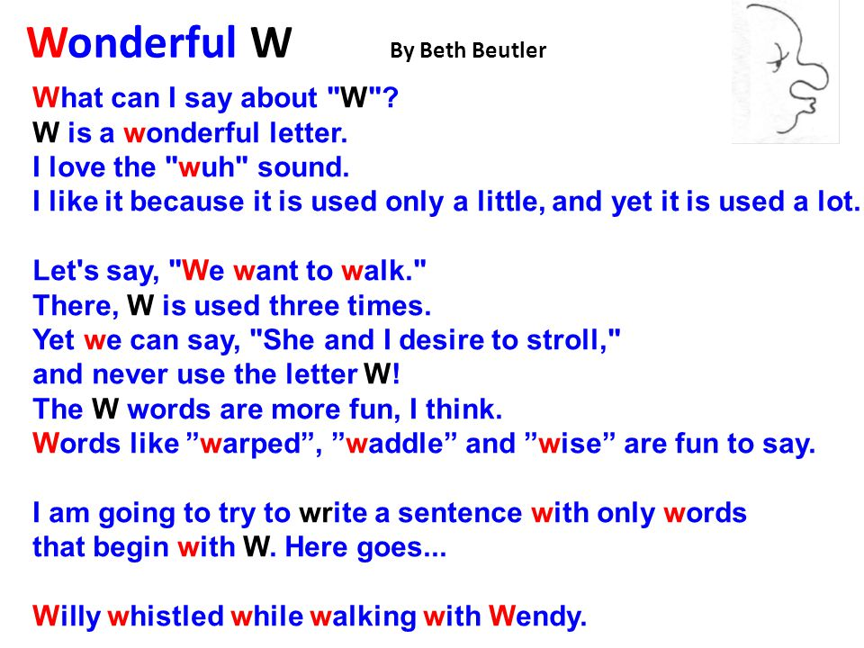 Wonderful W By Beth Beutler What can I say about W .