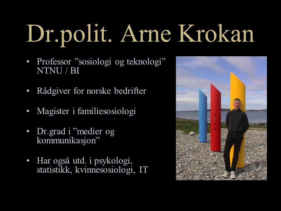 Vi er alle redaktører Arne Krokan