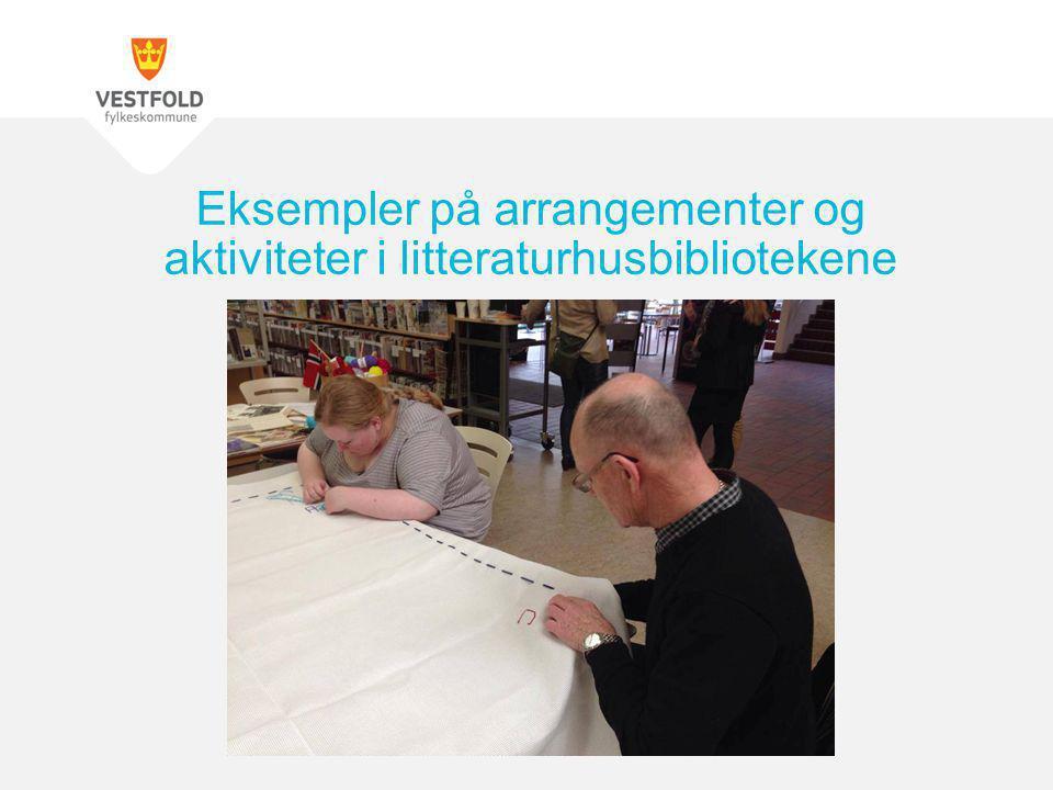 Eksempler på arrangementer og aktiviteter i litteraturhusbibliotekene