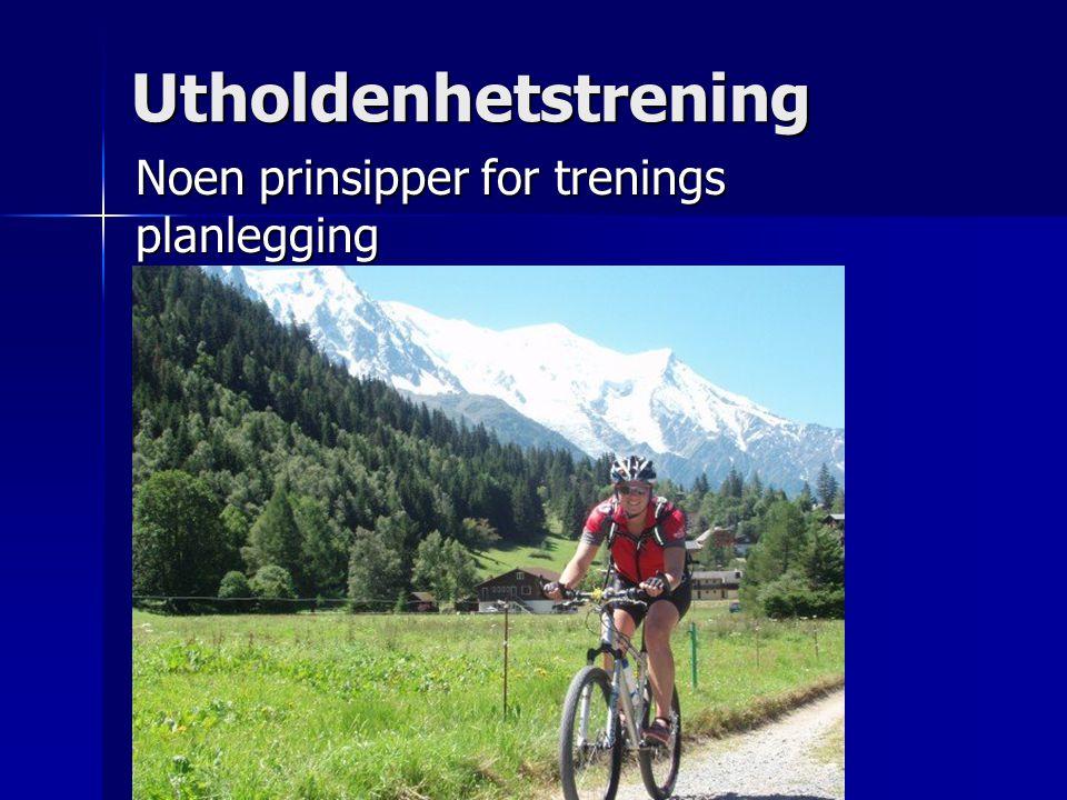 Utholdenhetstrening Noen prinsipper for trenings planlegging