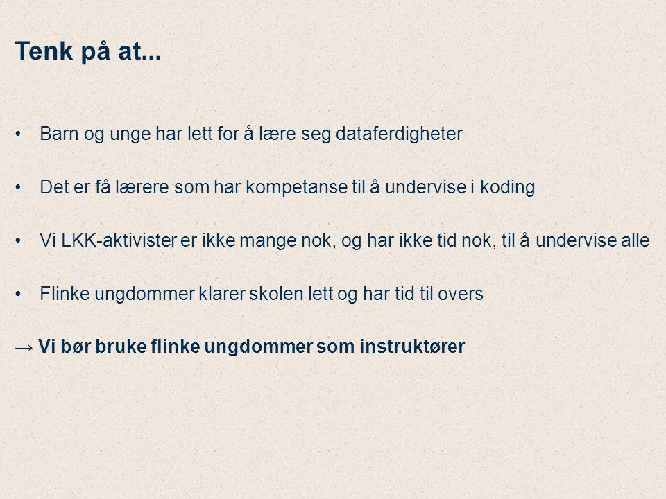 Gode erfaringer på Årvoll skole Pilotkurs i 2010 og 2013 Nytt kurs starter feb.