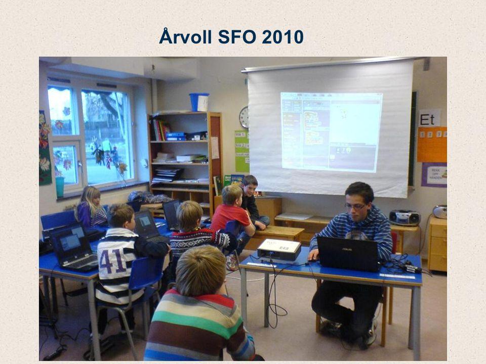 Opplegg for Scratch-kurs på Årvoll SFO 1 time i uka over 5 uker (kortere og lengre varighet er også mulig) All undervisning gjøres av ungdommene, voksne holder seg i bakgrunnen Instruktørene og veilederen blir enig om et undervisningsopplegg, f.eks.