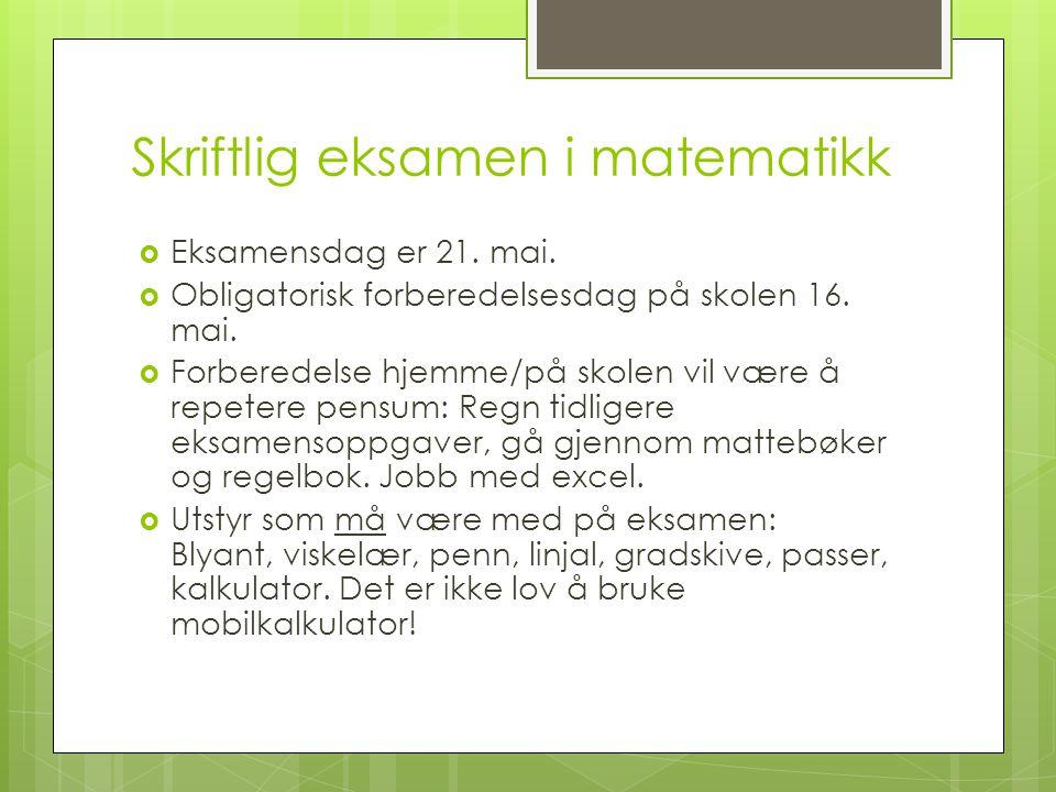 Skriftlig eksamen i norsk  Tilgang til teksthefte gis 21.
