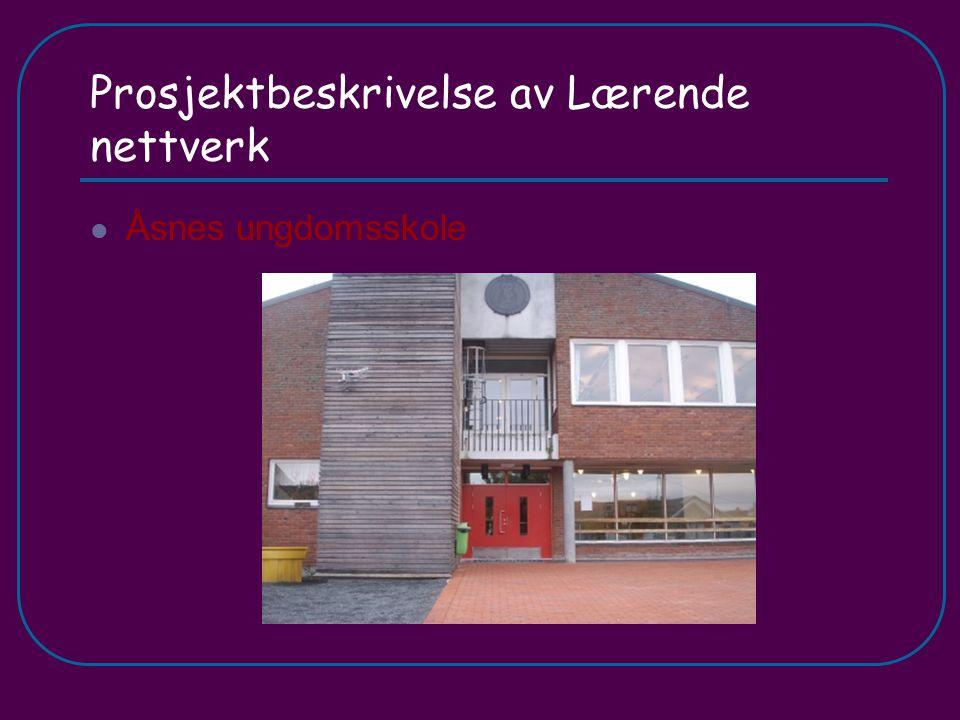 Prosjektbeskrivelse av Lærende nettverk Åsnes ungdomsskole