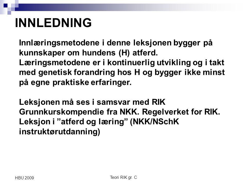 Teori RIK gr. C HBU 2009