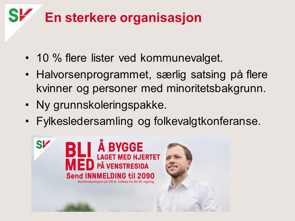 En sterkere organisasjon 10 % flere lister ved kommunevalget.