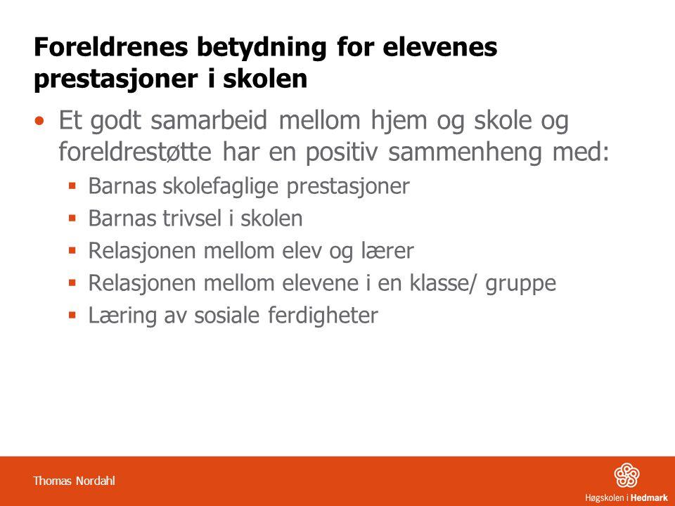 Opprettholdende faktorer i læringsmiljøet og pedagogisk analyse Utfordring/ problem Opprett- holdende faktor Opprett- holdende faktor Opprett- holdende faktor Opprett- holdende faktor Opprett- holdende faktor Thomas Nordahl