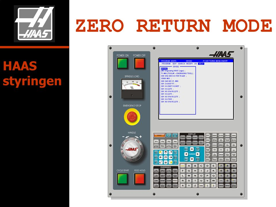 ZERO RETURN MODE HAAS styringen