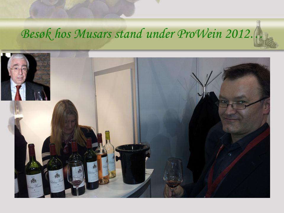 Besøk hos Musars stand under ProWein 2012…