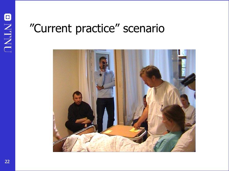 """22 """"Current practice"""" scenario"""