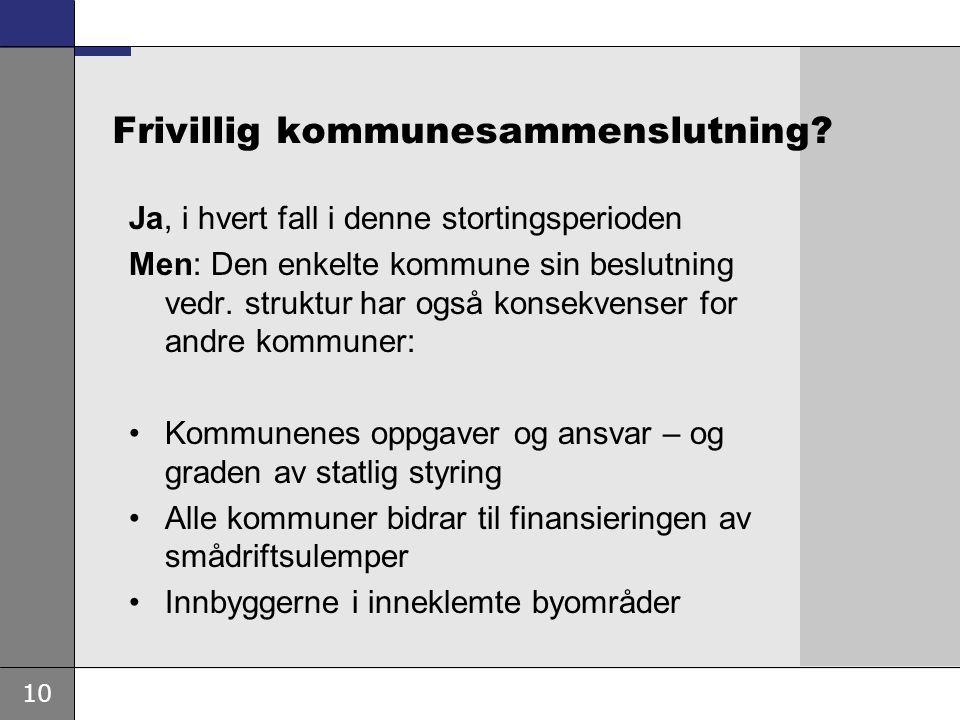 10 Frivillig kommunesammenslutning.