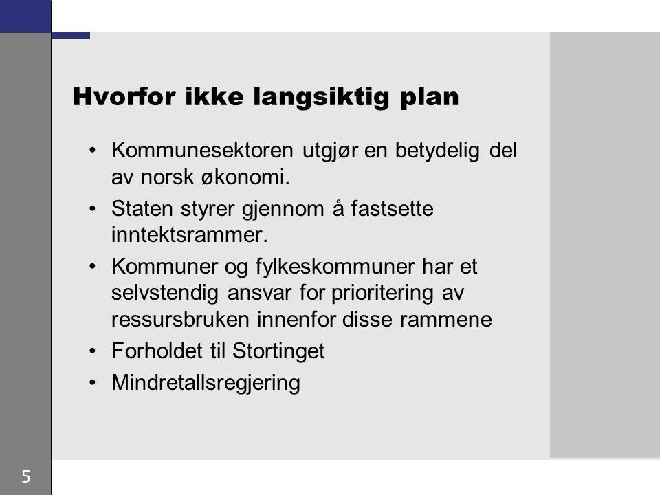 6 Tiltak for å rette opp ubalansen Sem-erklæringen: Vekst i kommunesektorens inntektsramme i inneværende stortingsperiode En vesentlig del av veksten som frie inntekter.
