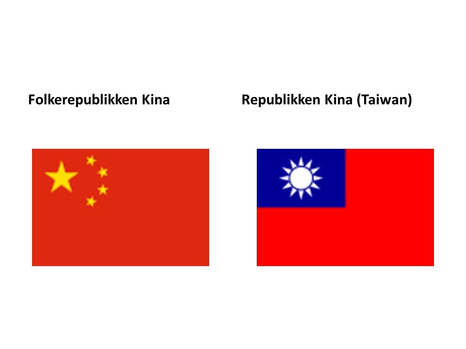Folkerepublikken KinaRepublikken Kina (Taiwan)