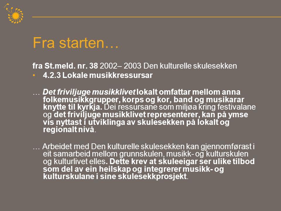 Politiske føringer skapte forventninger - Oktober 2005