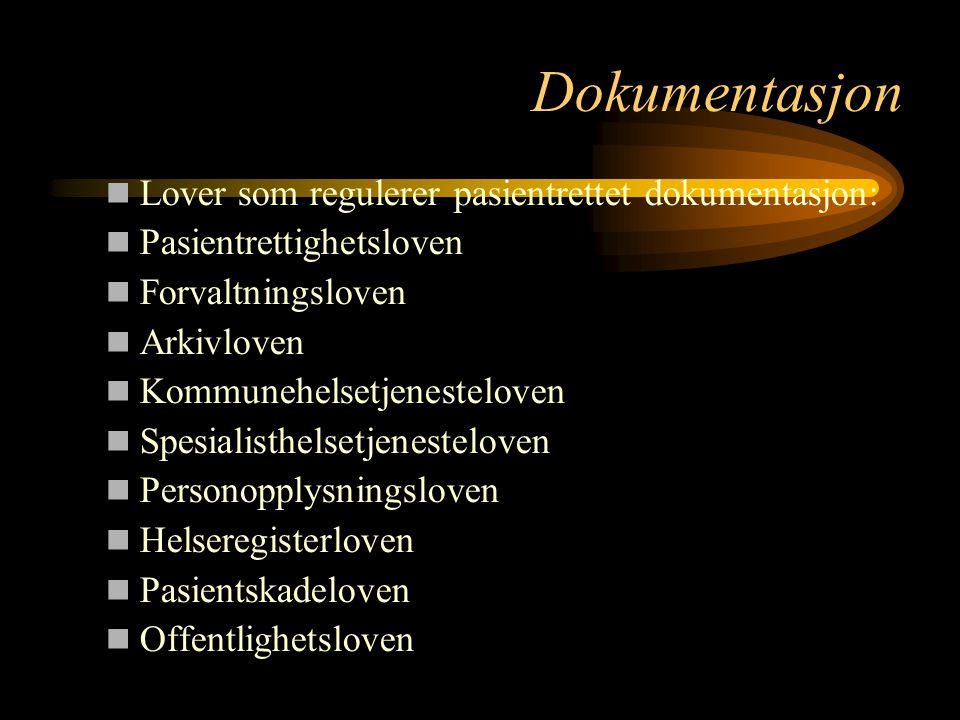 Dokumentasjon § 8.
