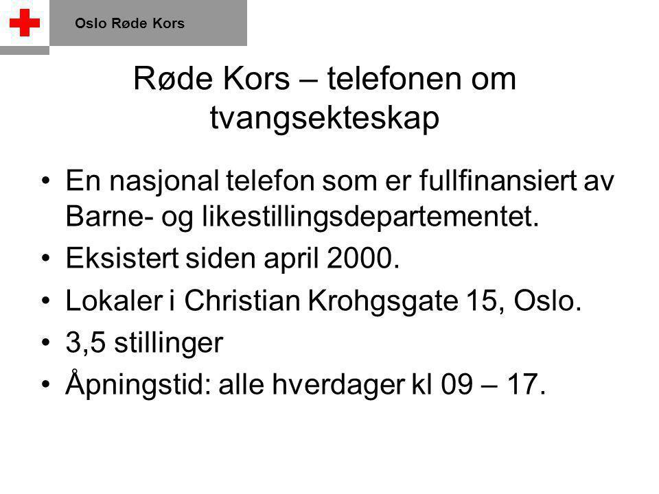 Juridiske rammer Oslo Røde Kors