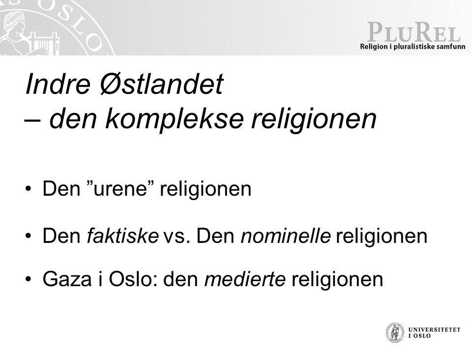 Indre Østlandet – den komplekse religionen Den urene religionen Den faktiske vs.