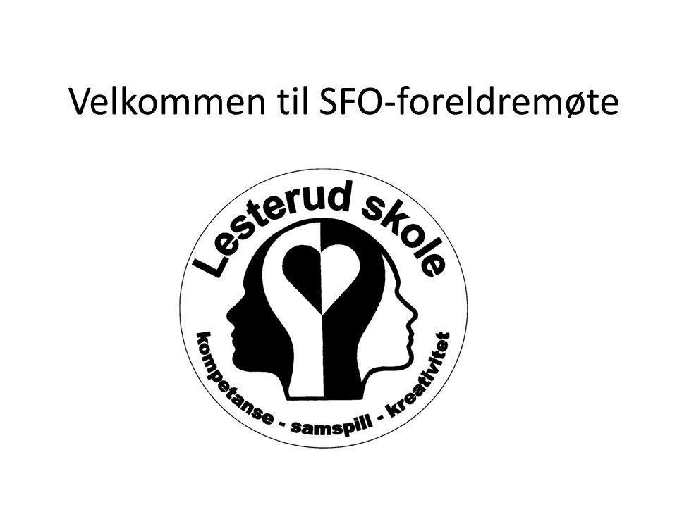 Velkommen til SFO-foreldremøte