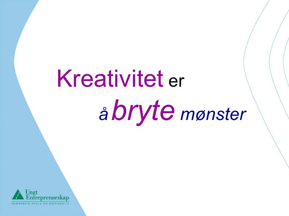 Kreativitet er å bryte mønster