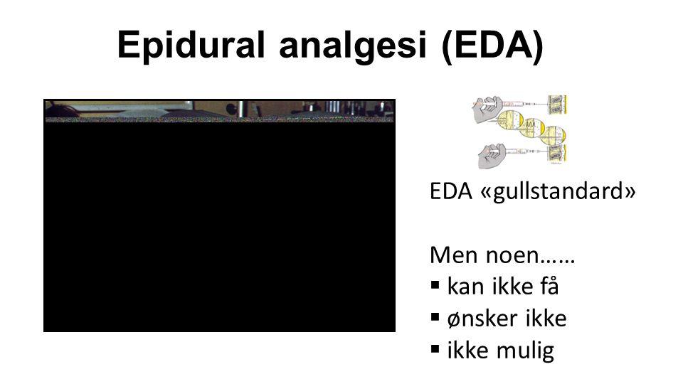  Én avdeling brukte systemisk Fentanyl intravenøst  Én stor avdeling med over 50% økning av epiduralfrekvens  Ellers små endringer fra 2005 til 2008 Spørreundersøkelse (artikkel 1): resultat