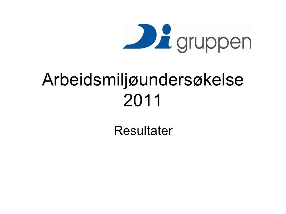 Faglig og personlig utvikling Resultater DI- gruppen Arbeidsmiljøundersøkelse 2011