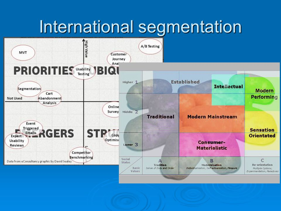 International segmentation