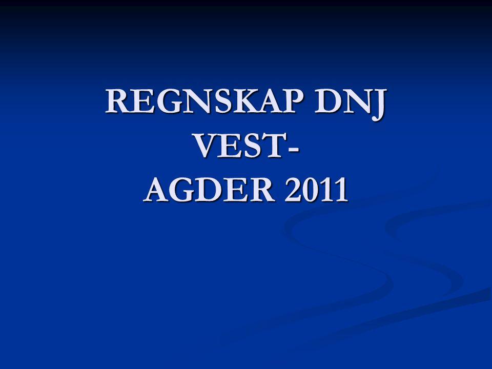 REGNSKAP DNJ VEST- AGDER 2011