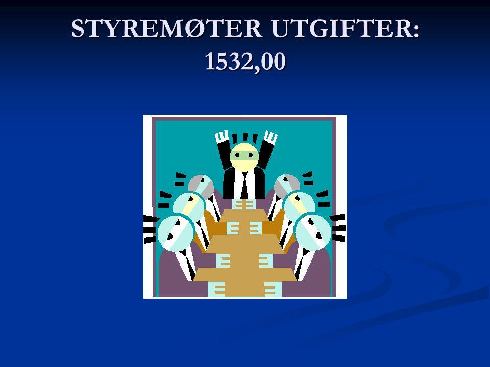 STYREMØTER UTGIFTER: 1532,00