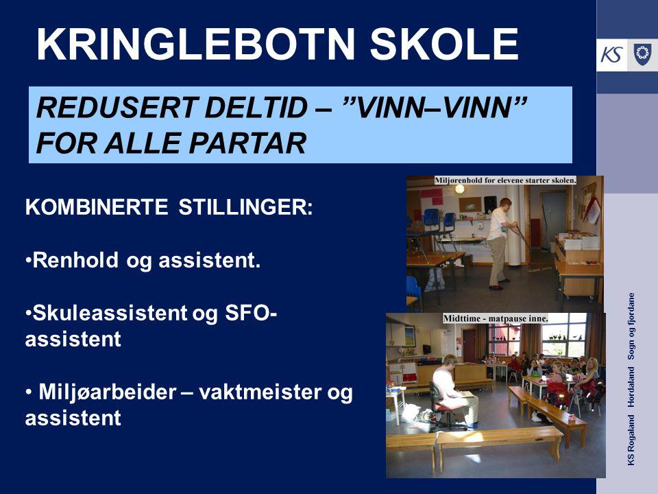 KS Rogaland Hordaland Sogn og fjordane KRINGLEBOTN SKOLE KOMBINERTE STILLINGER: Renhold og assistent. Skuleassistent og SFO- assistent Miljøarbeider –