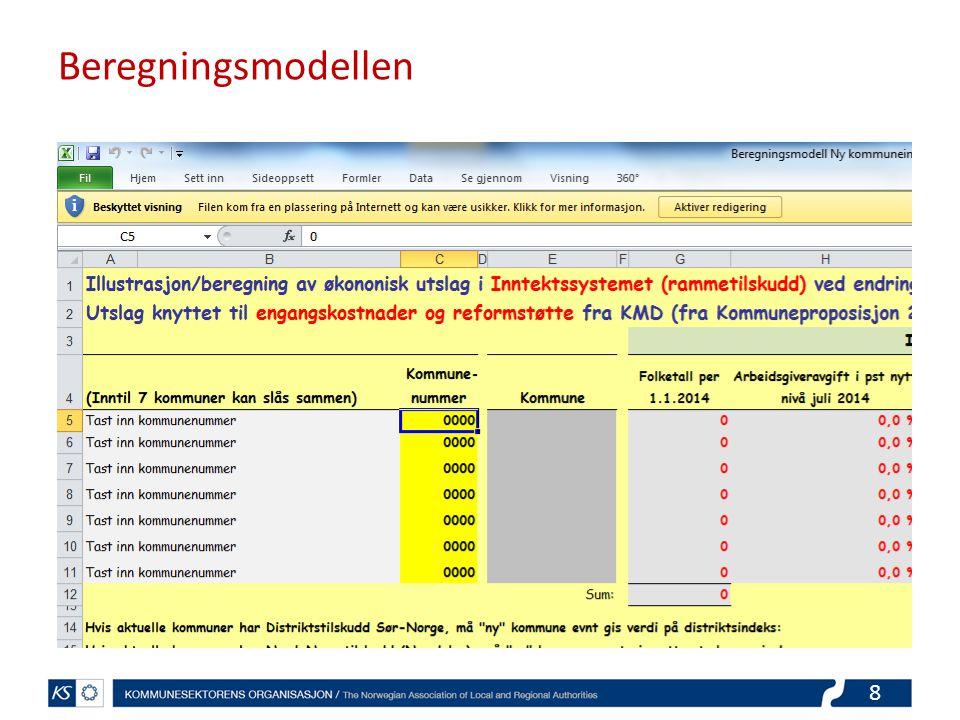 8 Beregningsmodellen