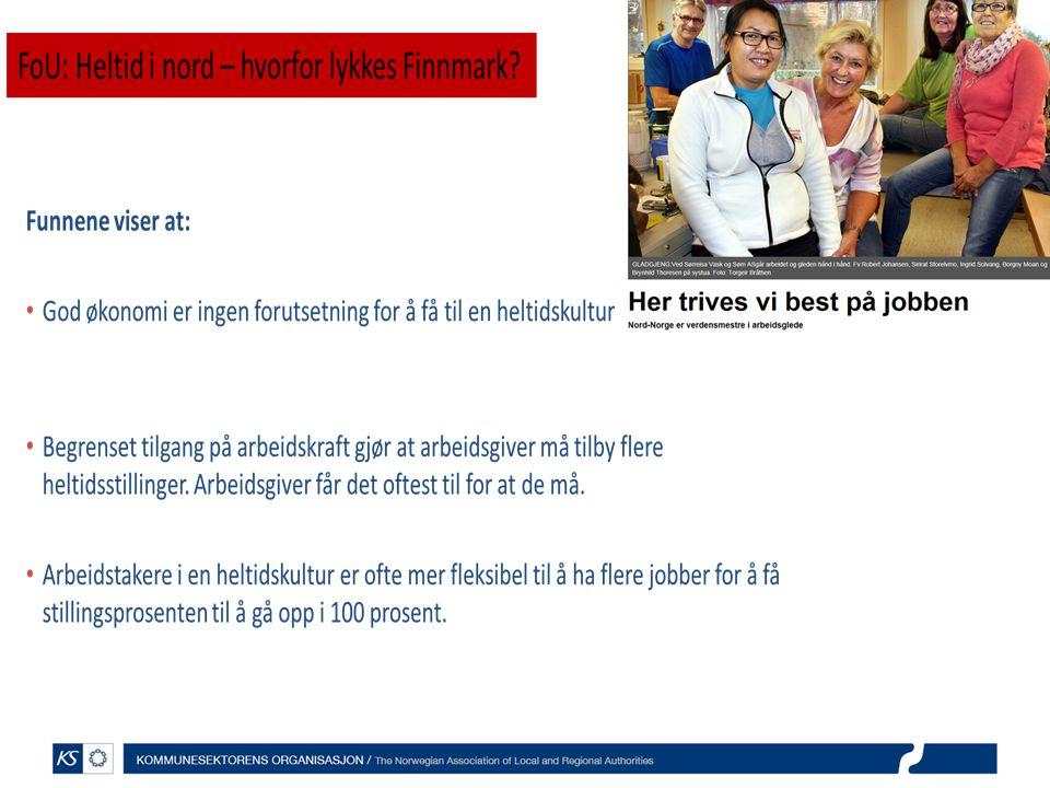 KS Arbeidsgivermonitor 2013: Større stillinger og mer heltid i kommunesektoren vil føre til et vesentlig redusert rekrutteringsbehov i årene framover.