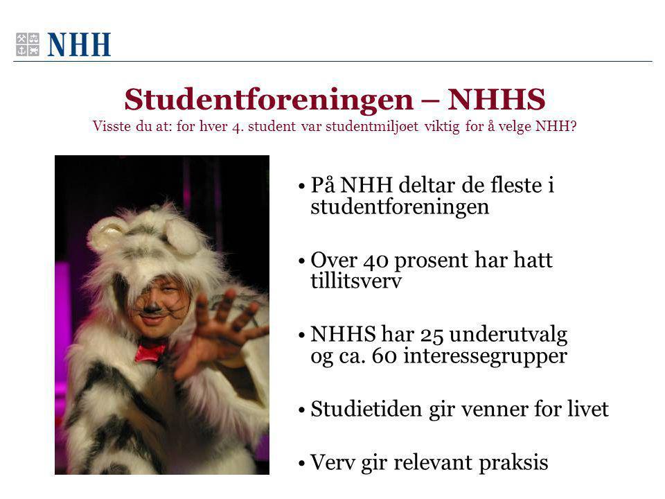 Studentforeningen – NHHS Visste du at: for hver 4.