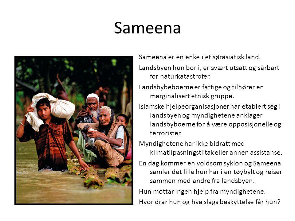 Sameena Sameena er en enke i et sørasiatisk land.