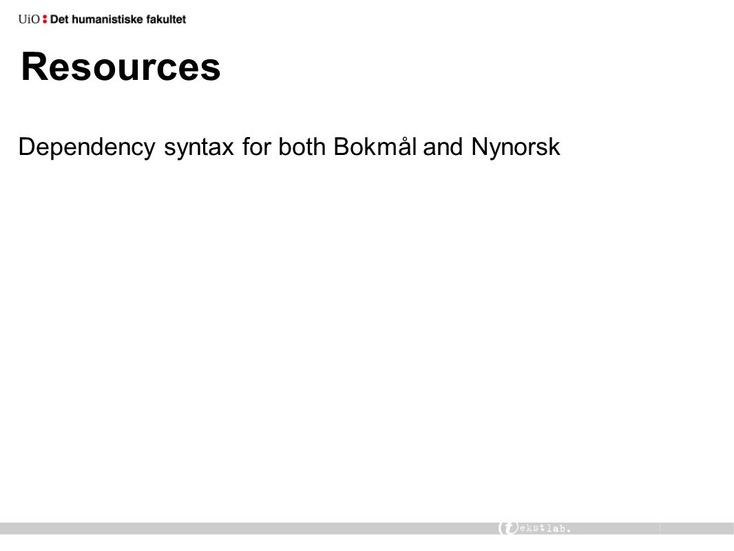 Resources Dependency syntax for both Bokmål and Nynorsk