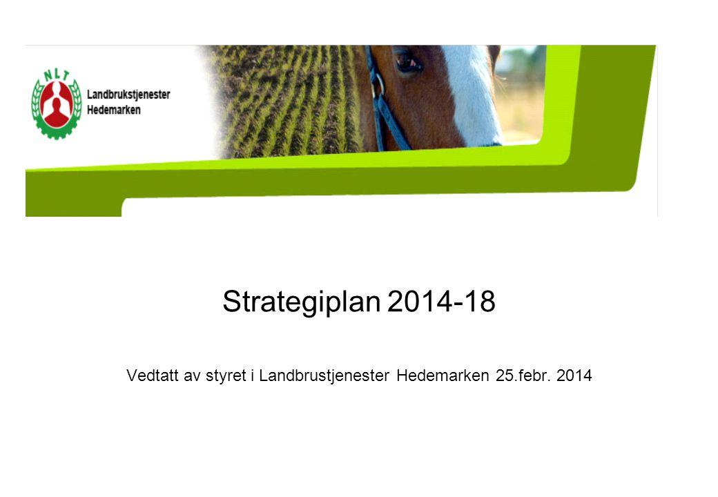 Strategiplan 2014-18 Vedtatt av styret i Landbrustjenester Hedemarken 25.febr. 2014
