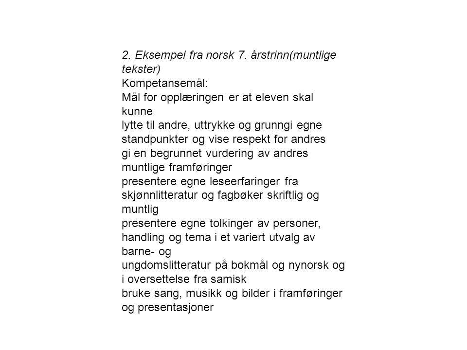 2.Eksempel fra norsk 7.