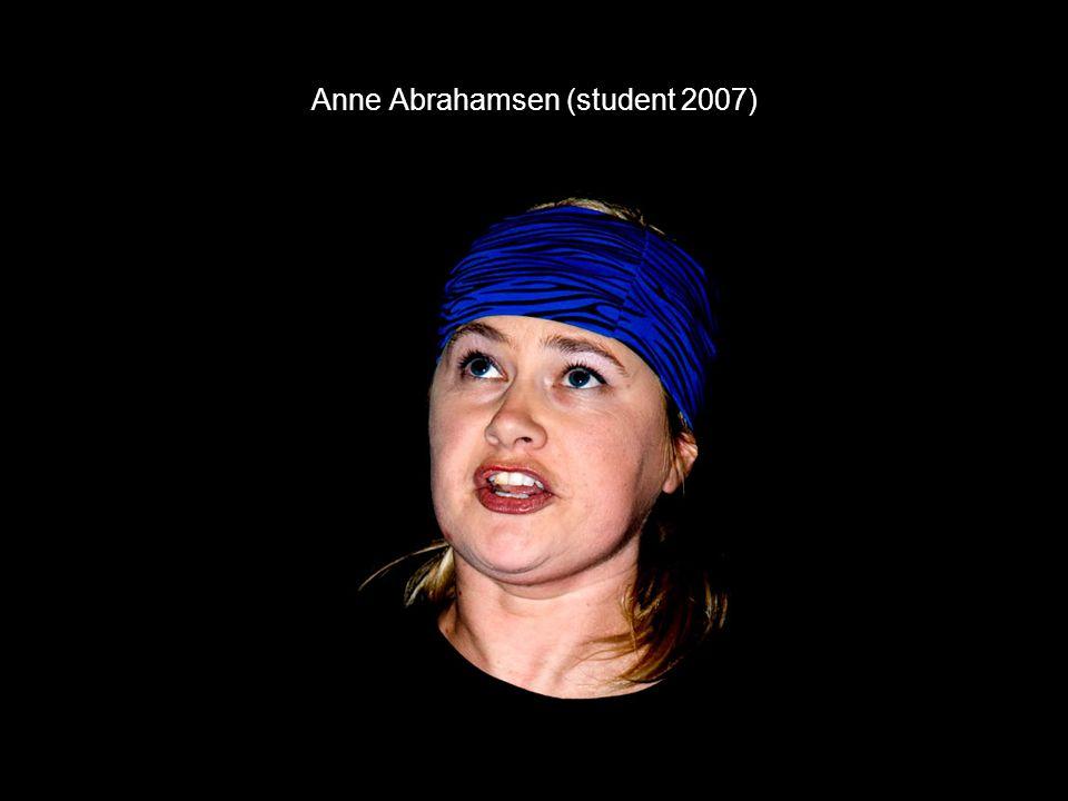 Anne Abrahamsen (student 2007)