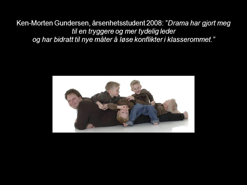 Kathrine Solstrand, allmennlærer og drama 2 student 2008 Drama er et spennende og givende fag på høgskolen i Vestfold og jeg gleder meg til å komme ut i læreryrket og få brukt de tingene jeg har lært i drama 1 og drama 2.