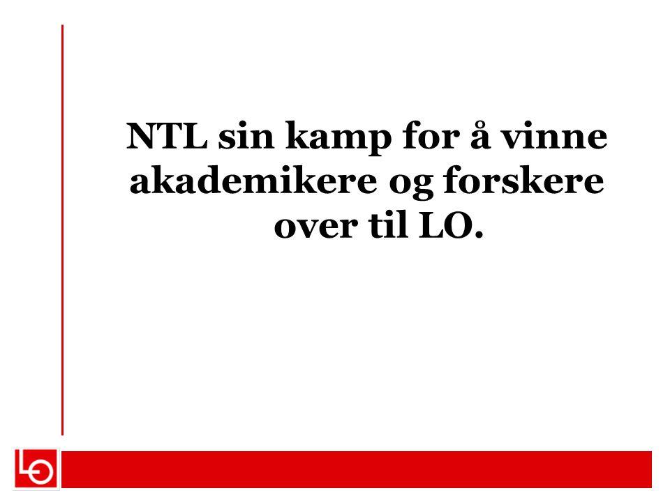 NTL sin kamp for å vinne akademikere og forskere over til LO.