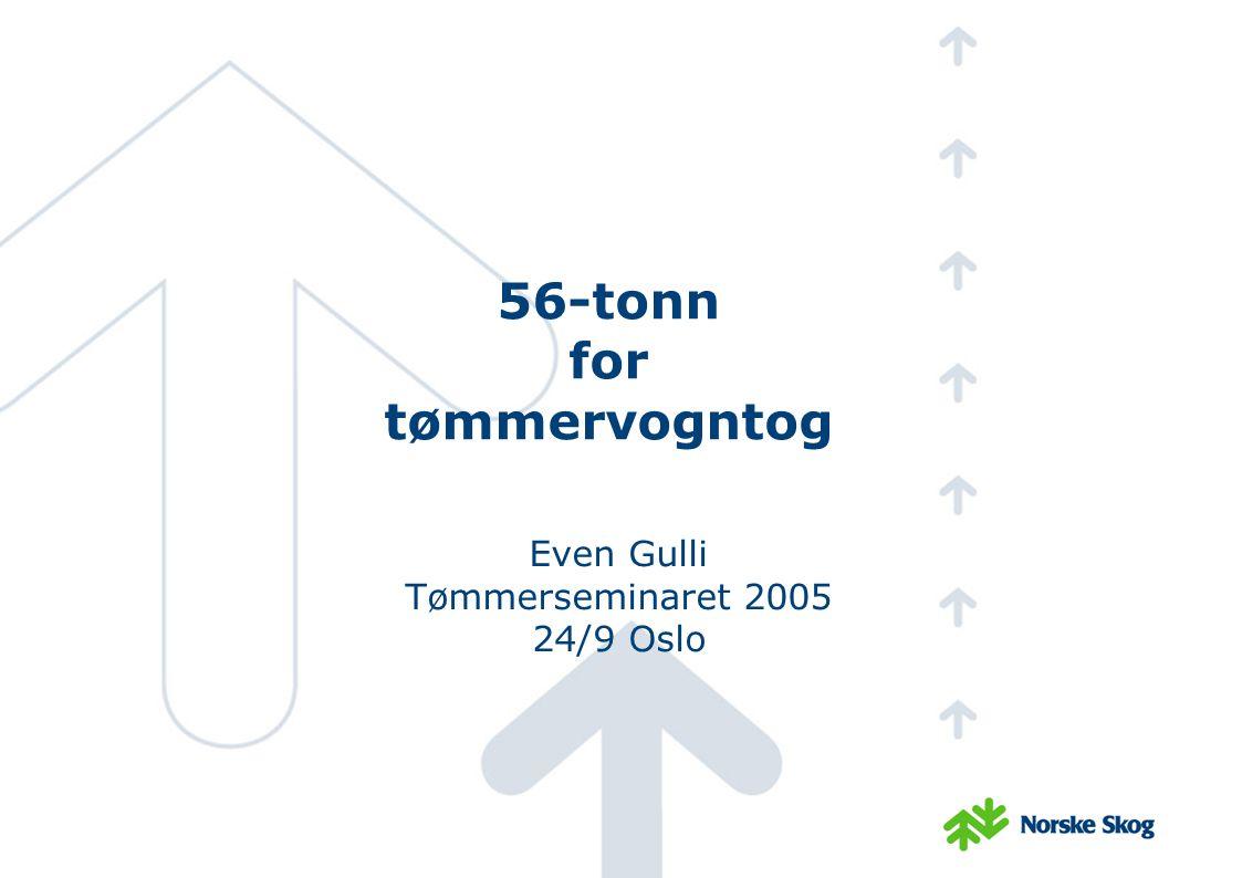 56 tonn på vei Idag 50 tonn.En prosess mot 60 tonn, 2002 sa samferdselsministeren, nei.