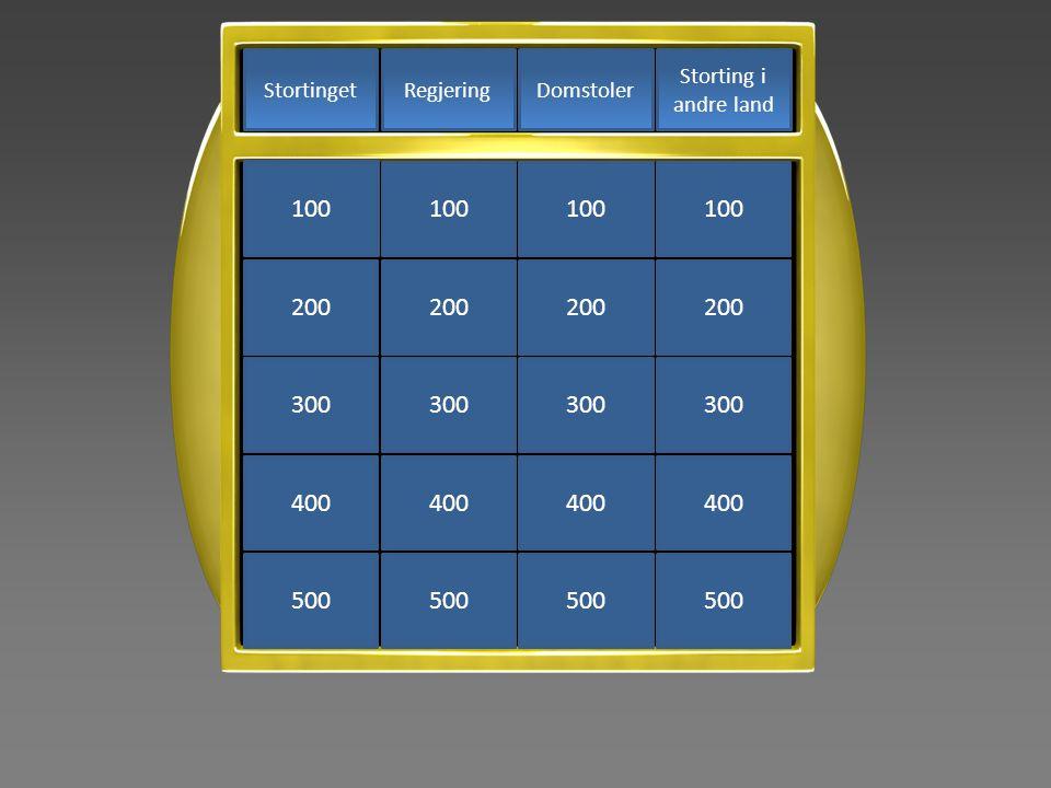 Storting i andre land DomstolerRegjeringStortinget 500 400 300 200 100 500 400 300 200 100 500 400 300 200 100 500 400 300 200 100