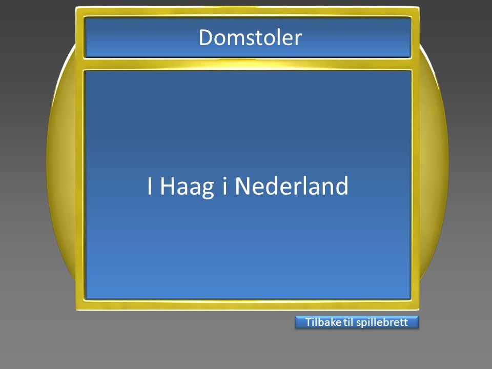 I Haag i Nederland Tilbake til spillebrett Domstoler