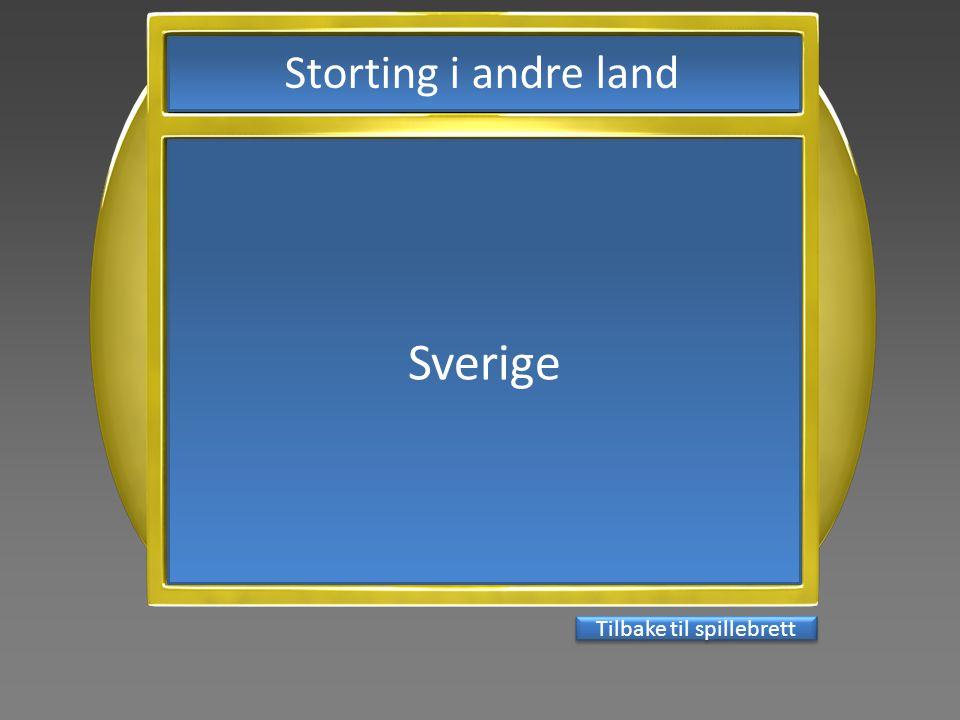 Sverige Tilbake til spillebrett Storting i andre land