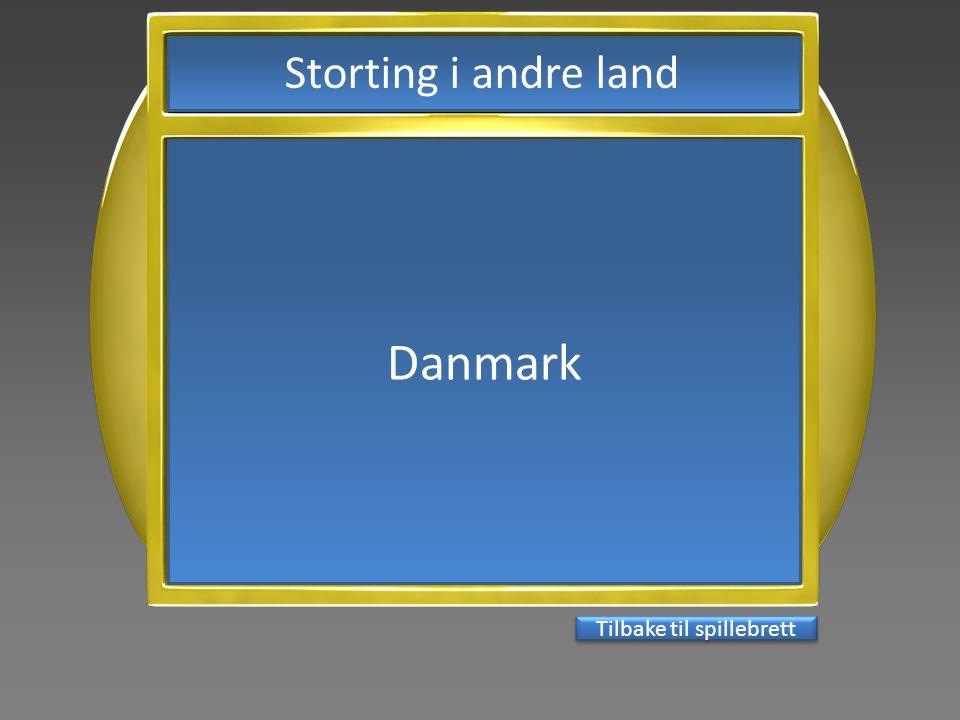 Danmark Tilbake til spillebrett Storting i andre land