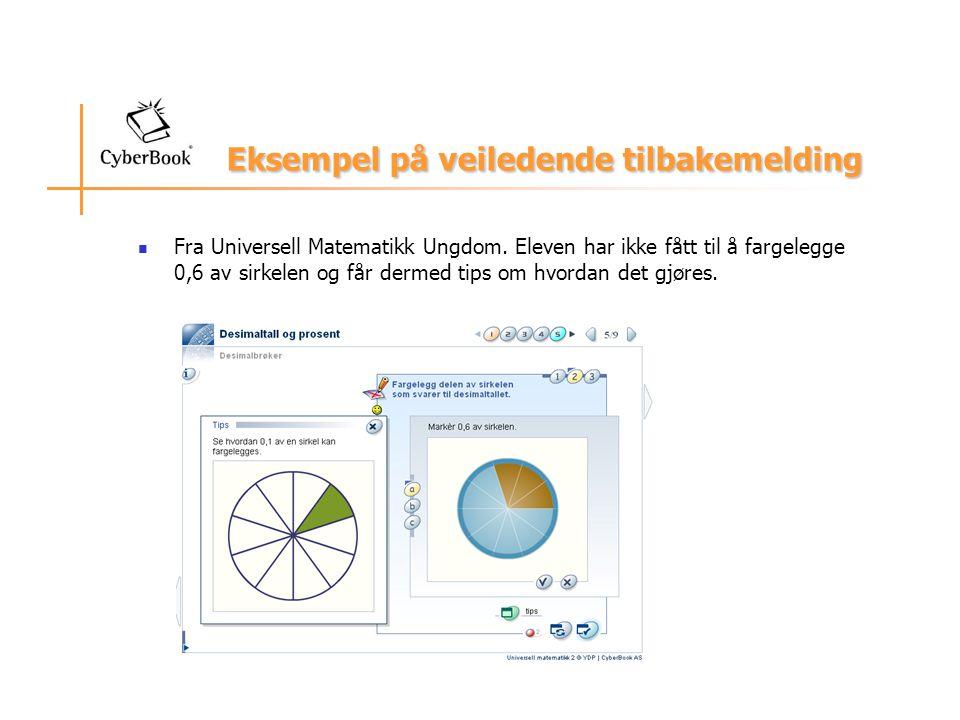 Eksempel på veiledende tilbakemelding Fra Universell Matematikk Ungdom.