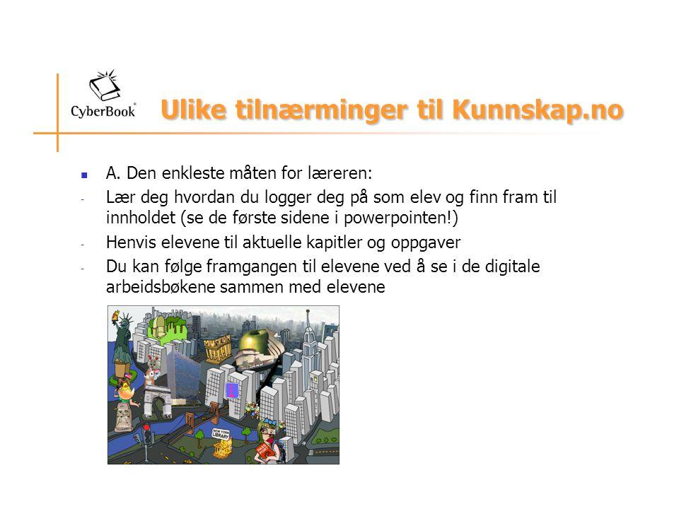 Ulike tilnærminger til Kunnskap.no A.