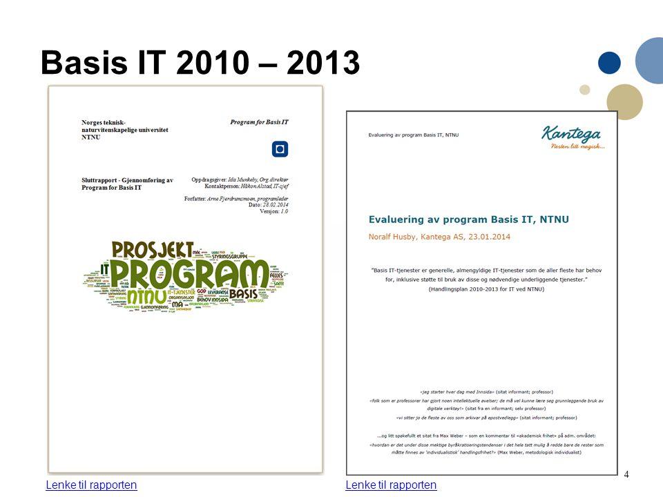 4 Basis IT 2010 – 2013 Lenke til rapporten